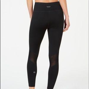 Calvin Klein Mesh-Inset Leggings
